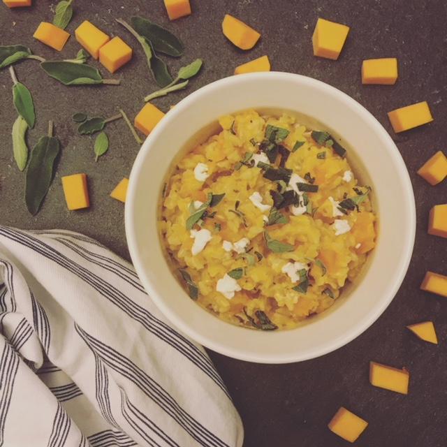 butternut squash risotto | hearth health happiness