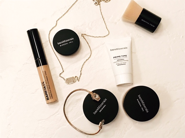 BareMinerals makeup on counter   hearth health happiness