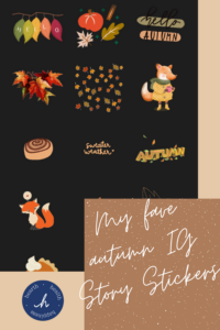 pinterest pin with my favorite IG Story stickers | lifestyle | hearth health happiness