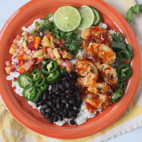 overhead shot of fiesta shrimp   food blog   hearth health happiness