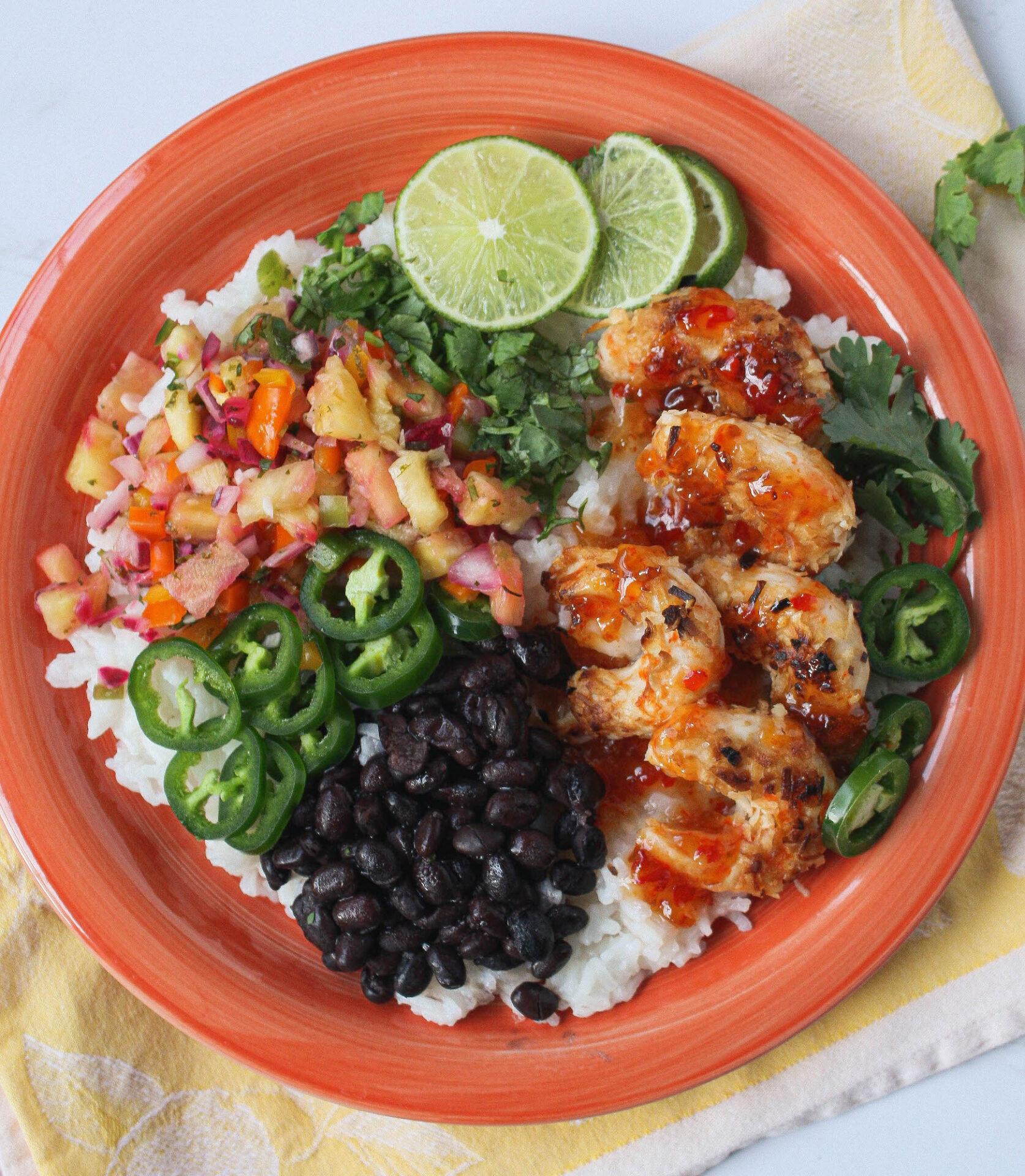 plant-based fiesta coconut shrimp   food blog   hearth health happiness