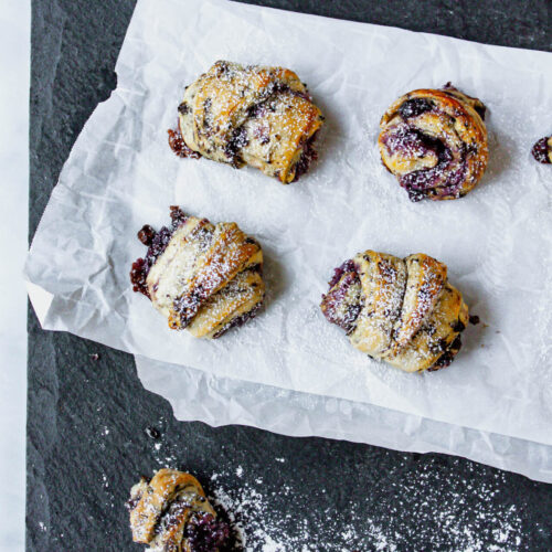 blueberry crescent rolls | food blog | hearth health happiness