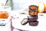 stacked homemade pumpkin spice pecan butter cups   food blog   hearth health happiness