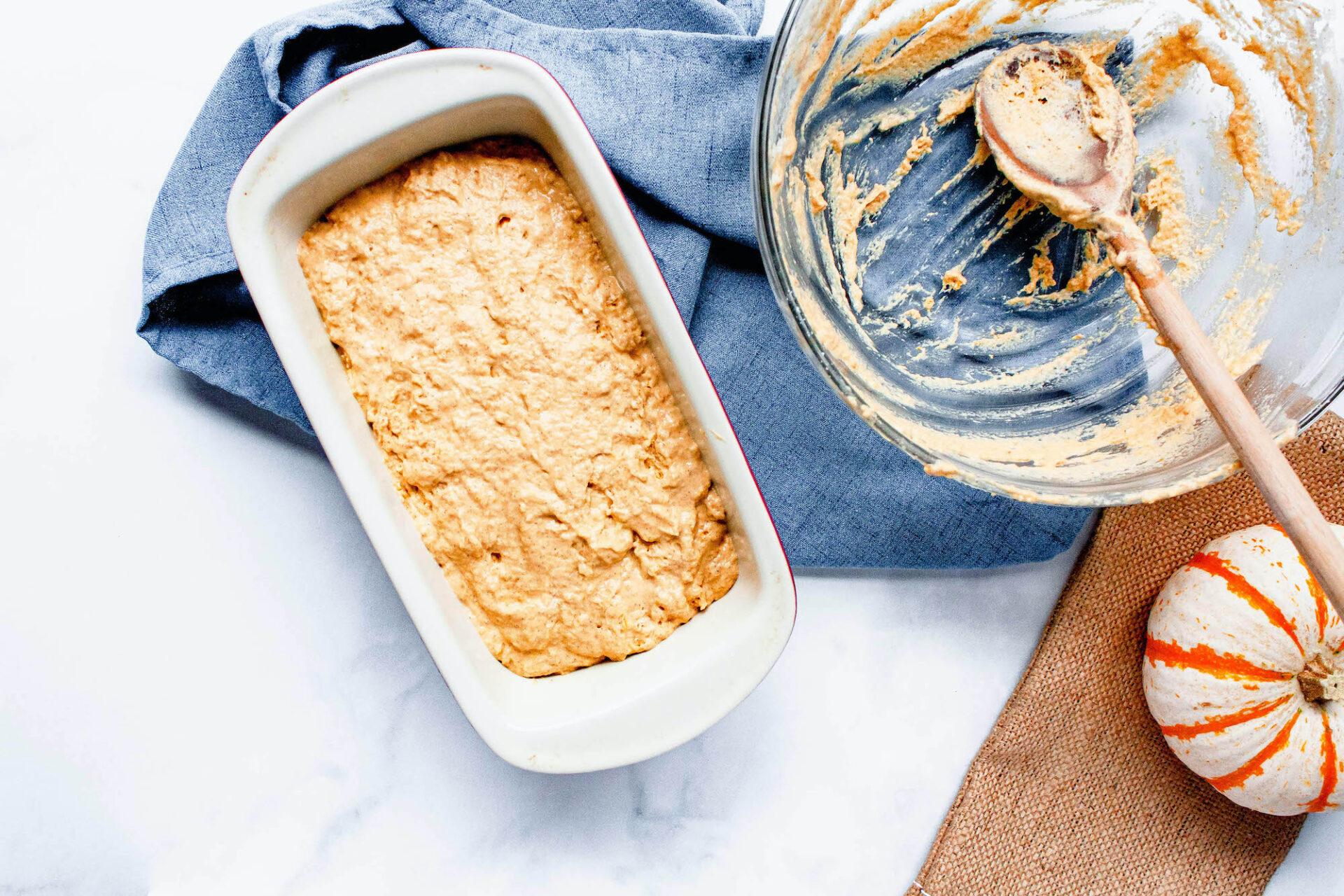 pumpkin beer bread dough | food blog | hearth health happiness