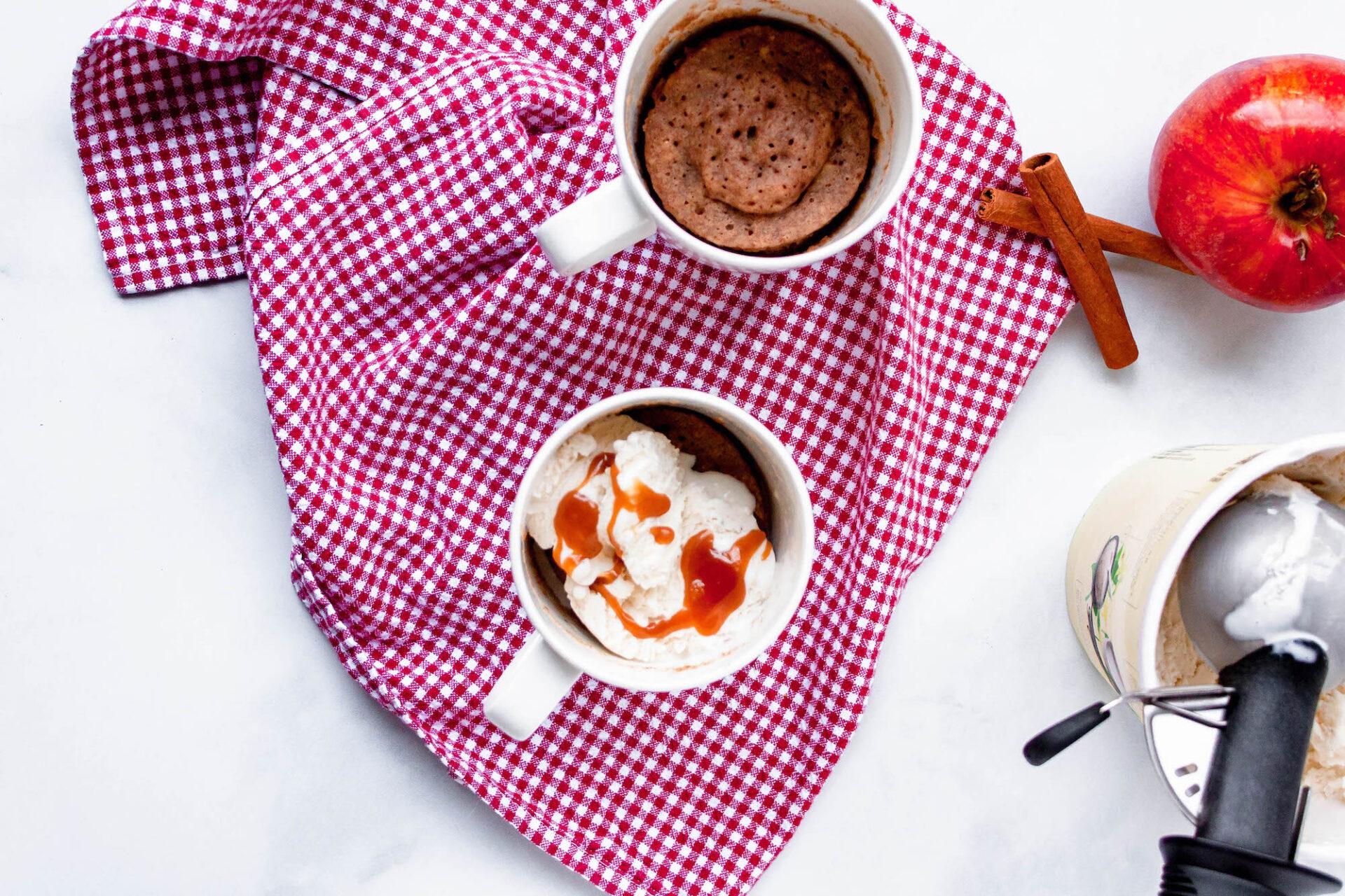 apple cinnamon mug cake   hearth health happiness