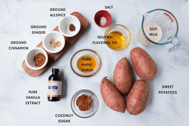 slow cooker vegan sweet potato casserole ingredients