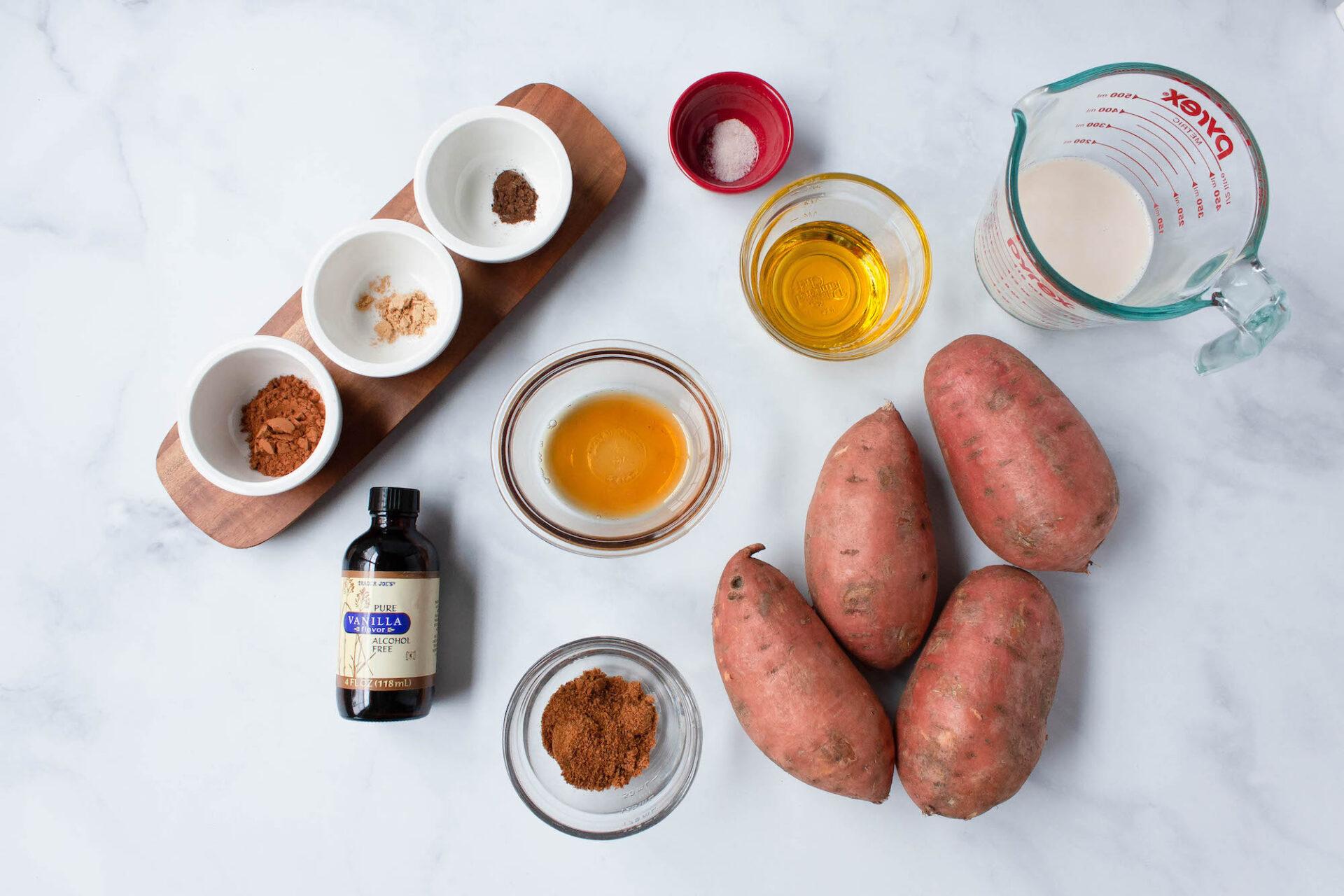 vegan sweet potato casserole ingredients | comfort food | hearth health happiness