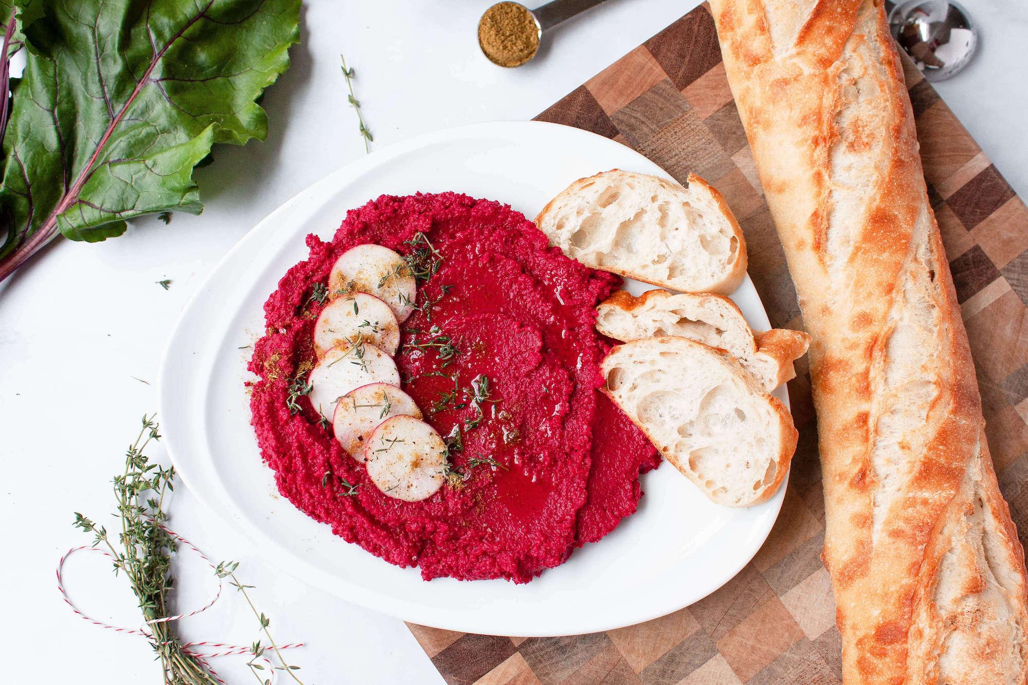 Savory Roasted Beet Hummus