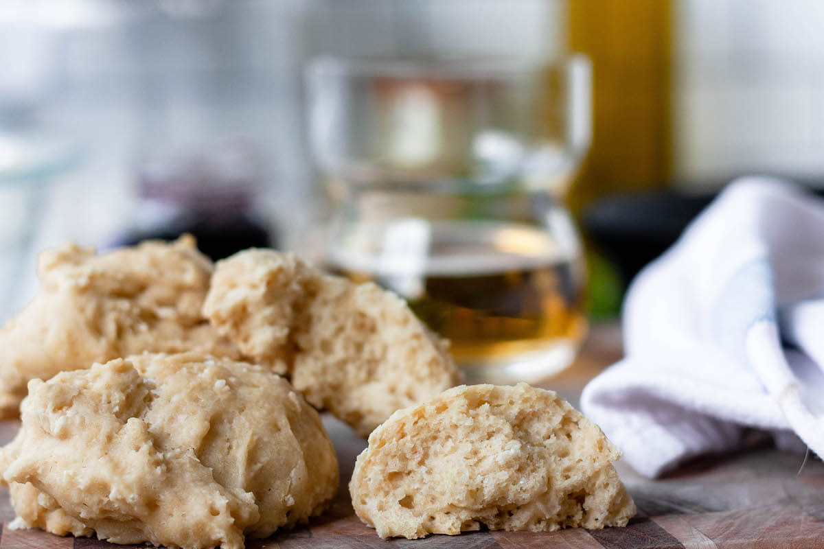 side image of beer biscuits