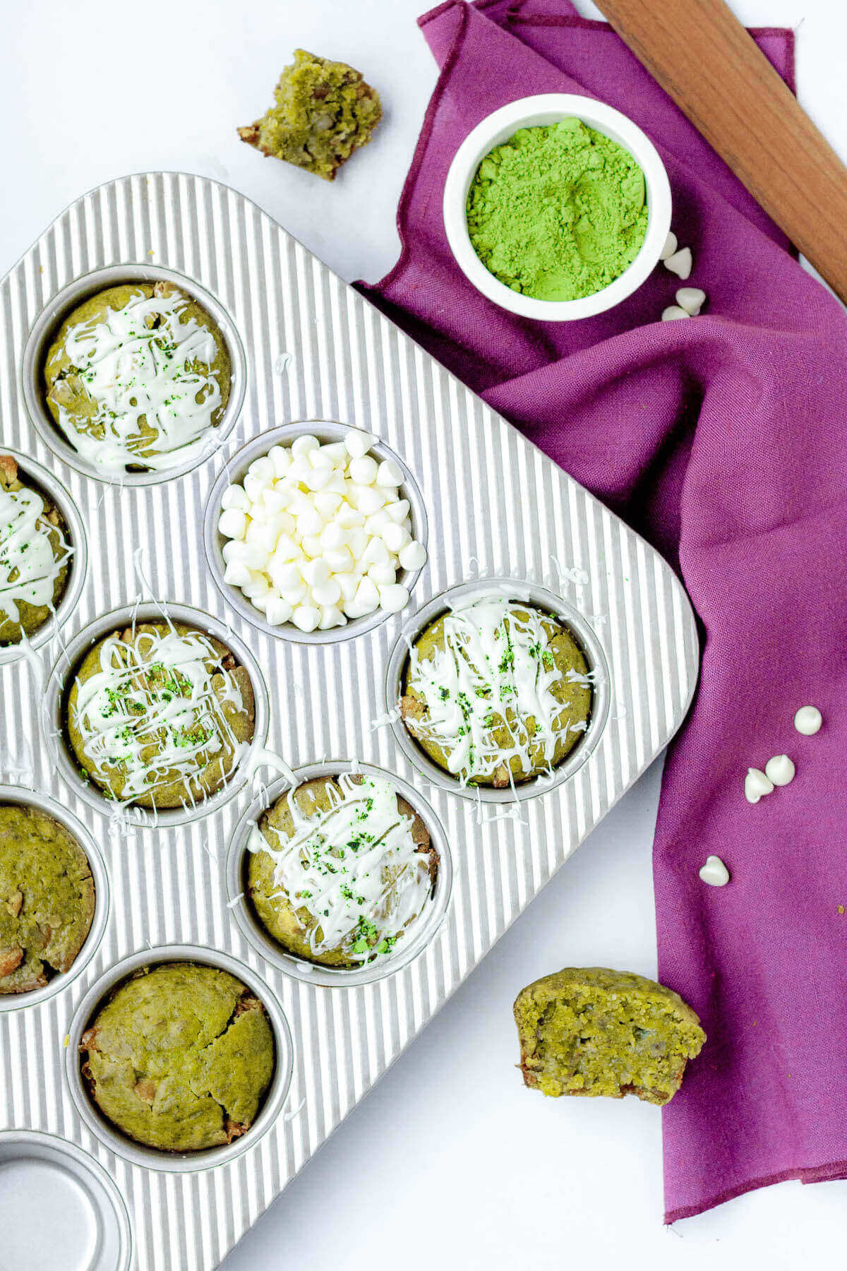 matcha muffins in tin with chocolate v3 final