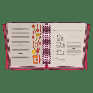 illustration of cookbook